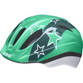 KED Meggy II Helmet Kids, green stars